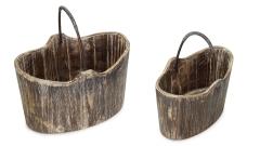 Holzgefässe mit Griff