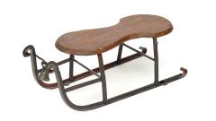 Schlitten Metall-Holz