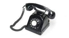 Telephon schwarz Wahlscheibe
