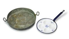 Liwanzenpfanne Kupfer und Email