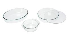 Gratinformen rund oval Glas