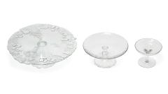 Etageren / Tortenplatten Glas