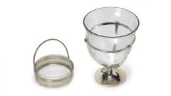Schale Glas Metall