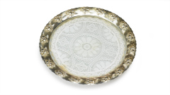 Tortenplatte Silber Glas