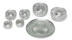 Schälchen Teller Metall