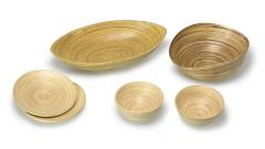 Schale Bambus rund oval