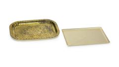Serviertablett Metall 24x31cm