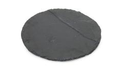 Schieferplatte rund