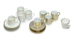 Espresso-Geschirr Gold Deco
