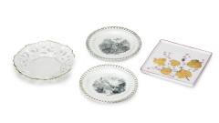 Schälchen Porzellan verziert