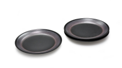 Teller matt-schwarz-violett