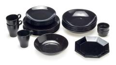 Geschirr schwarz