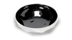 Schale silber-schwarz