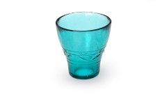Trinkglas blau