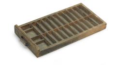 Letter-Schublade Holz